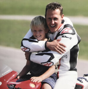 Young Mick Schumacher with his father Michael Schumacher